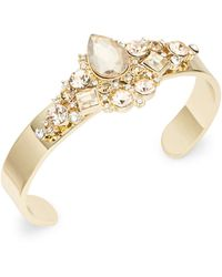 ABS By Allen Schwartz - Embellished Cuff Bracelet - Lyst