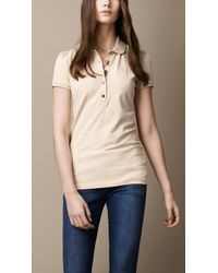 Burberry Check Placket Polo Shirt - Lyst