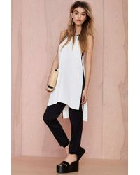 Nasty Gal Both Sides Now Split Blouse - Lyst