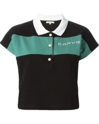 Carven Cropped Polo Shirt - Lyst