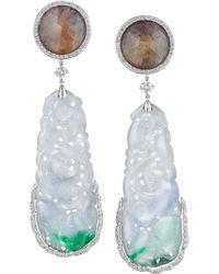 Mimi So - Sapphire Swirling Jade Drop Earrings - Lyst