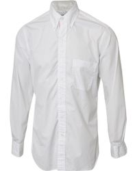Thom Browne Classic Placket Poplin Shirt White - Lyst