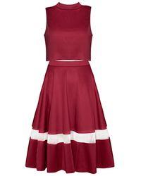 Pixie Market Burgundy Midi Two Piece Dress Set - Lyst