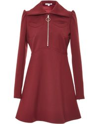 Carven Gabardine Mini Dress - Lyst