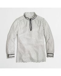 J.Crew Factory Clip Dot Top with Trim - Lyst