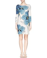 Tory Burch 'Bonnie' Iris Print Cotton Dress multicolor - Lyst