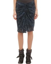 Isabel Marant Ruched Canelli Skirt - Lyst