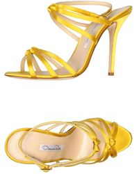 Oscar de la Renta Yellow Sandals - Lyst