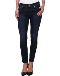 7 For All Mankind Mid Rise Ankle Skinny in Dark Royale Rinse - Lyst
