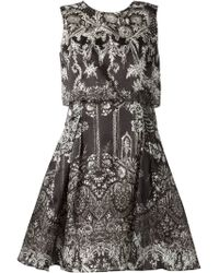 Notte By Marchesa Printed Dress - Lyst