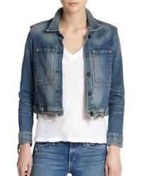Mcguire Agnelli Distressed Denim Jacket - Lyst