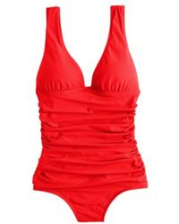 J.Crew D-cup Ruched Femme Tank red - Lyst