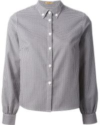 Peter Jensen Geometric Print Shirt - Lyst