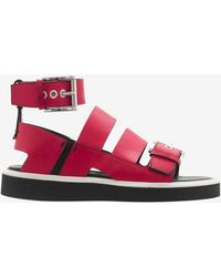 Nicholas Kirkwood Suno Ankle Strap Flat Sandal Red - Lyst