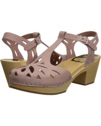 Swedish Hasbeens Pink Lacy Sandal - Lyst