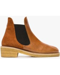 Ganni - Molly Leather Boots - Lyst
