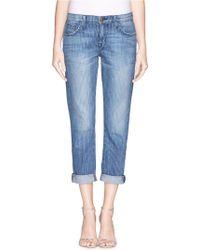 Current/Elliott The Fling' Pinstripe Jeans - Lyst
