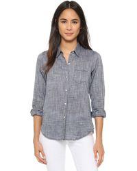Nili Lotan - Chambray Nl Button Down Shirt - Lyst