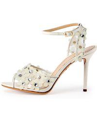 Charlotte Olympia Daisy Pvc Ankle-Wrap Sandal - Lyst