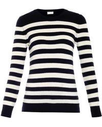 Saint Laurent Breton-stripe Cashmere Sweater - Lyst