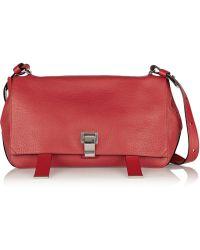 Proenza Schouler Courier Textured-leather Shoulder Bag - Lyst