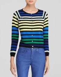 Karen Millen Rainbow Stripe Knit Cardigan - Bloomingdale'S Exclusive - Lyst
