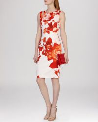 Karen Millen Dress - Oversized Placed Floral Print - Lyst