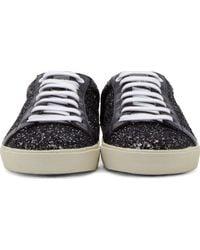 Saint Laurent Black Glitter Stars Court Classic Sneakers Mvku9r7