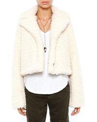 Smythe Faux Shearling Jacket - Lyst