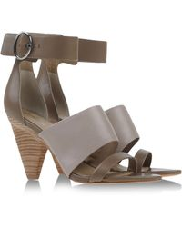 Belle By Sigerson Morrison Sandals gray - Lyst