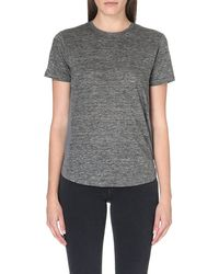 Marc By Marc Jacobs Carmen Shortsleeved Jersey Top Grey - Lyst