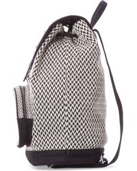 TOMS - Black And White Pattern Weave Departure Backpack - Lyst