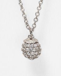 "T Tahari - Crystal Pavé Ball Necklace, 32"" - Lyst"