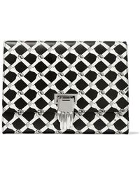 Opening Ceremony - Nokki Printed Textured-leather Clutch - Lyst
