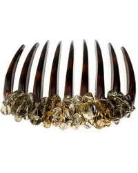 Colette Malouf - Crystal Encrusted Tortoiseshell Comb - Lyst