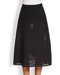 Cynthia Rowley Paneled Midi Skirt - Lyst