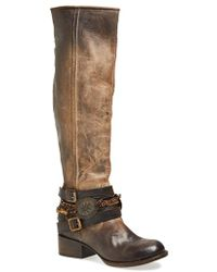 Freebird by Steven Western Leather Boot brown - Lyst