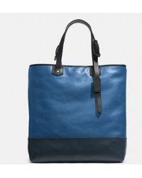 Coach Bleecker Shopper In Colorblock Leather blue - Lyst