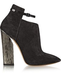 Casadei Suede Ankle Boots - Lyst