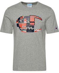 "Champion - ""heritage Patchwork ""c"" Short Sleeve T-shirt"" - Lyst"