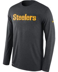 Nike - Pittsburgh Steelers Nfl Onfield Sideline L/s Seismic T-shirt - Lyst