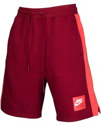 4da424e5135 Nike Jordan Air Jordan Game Basketball Shorts in Red for Men - Lyst