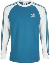 6b7cfe4ab42 adidas Originals Blue Authentic Rugby Jersey in Blue for Men - Lyst