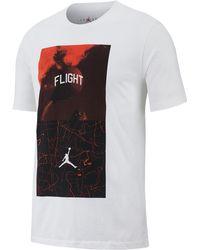 2a1db786982 Nike Jordan Flight Performance Long Sleeve Basketball Shirt in Black for  Men - Lyst