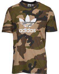 superior quality 3176d 4bbb4 adidas Originals - Camo Trefoil S s T-shirt - Lyst