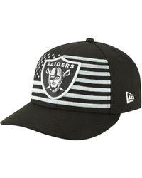 sports shoes efa4f 07616 KTZ Oakland Raiders Logo Grand 9fifty Snapback Cap in Gray for Men - Lyst