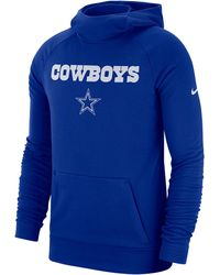 best service 07126 0fa25 Nike Dallas Cowboys Crucial Catch Therma Hoodie in Blue for ...