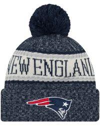 big sale a6c70 7dbcc KTZ Bobble Beanie New England Patriots in Blue for Men - Lyst