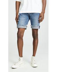 Levi's - Medium Washed Cutoff Denim Shorts - Lyst