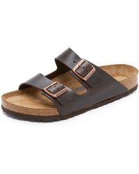Birkenstock - Soft Arizona Amalfi Leather Sandals - Lyst